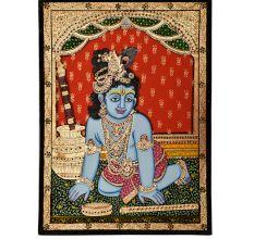 Tanjore Painting Of Krishna