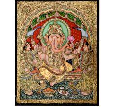 Lord Ganesha Tanjore Painting