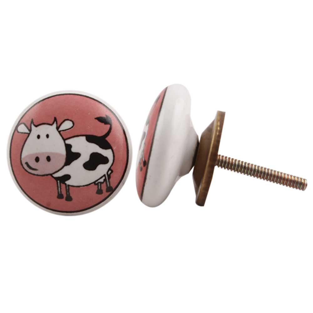 Cow Ceramic Knob