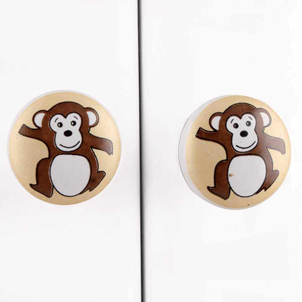 Monkey Ceramic Knob