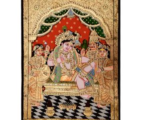 Painting Of Krishna Darbar