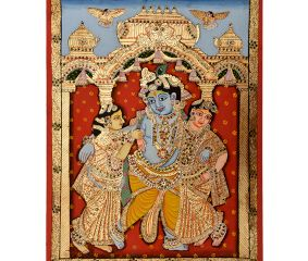 Painting Of Dancing Krishna