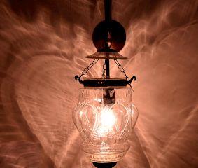 Cut Glass Pineapple Wall Lamp
