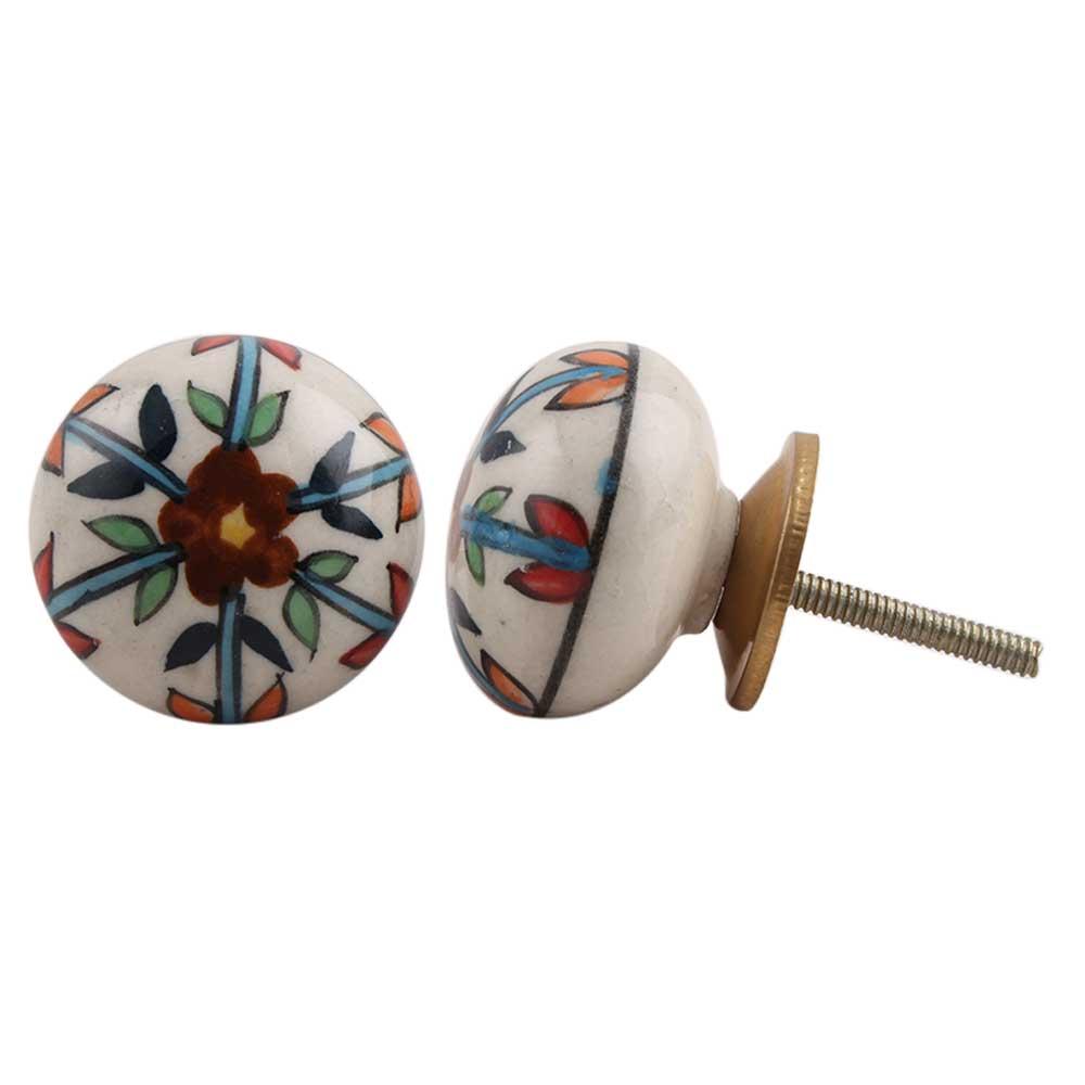 Wheel Floral Knob