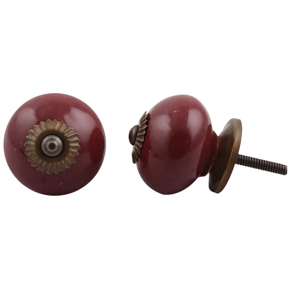 Cherry Solid Round Knob