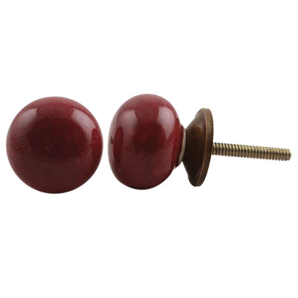 Cherry Small Flat Knob (1)
