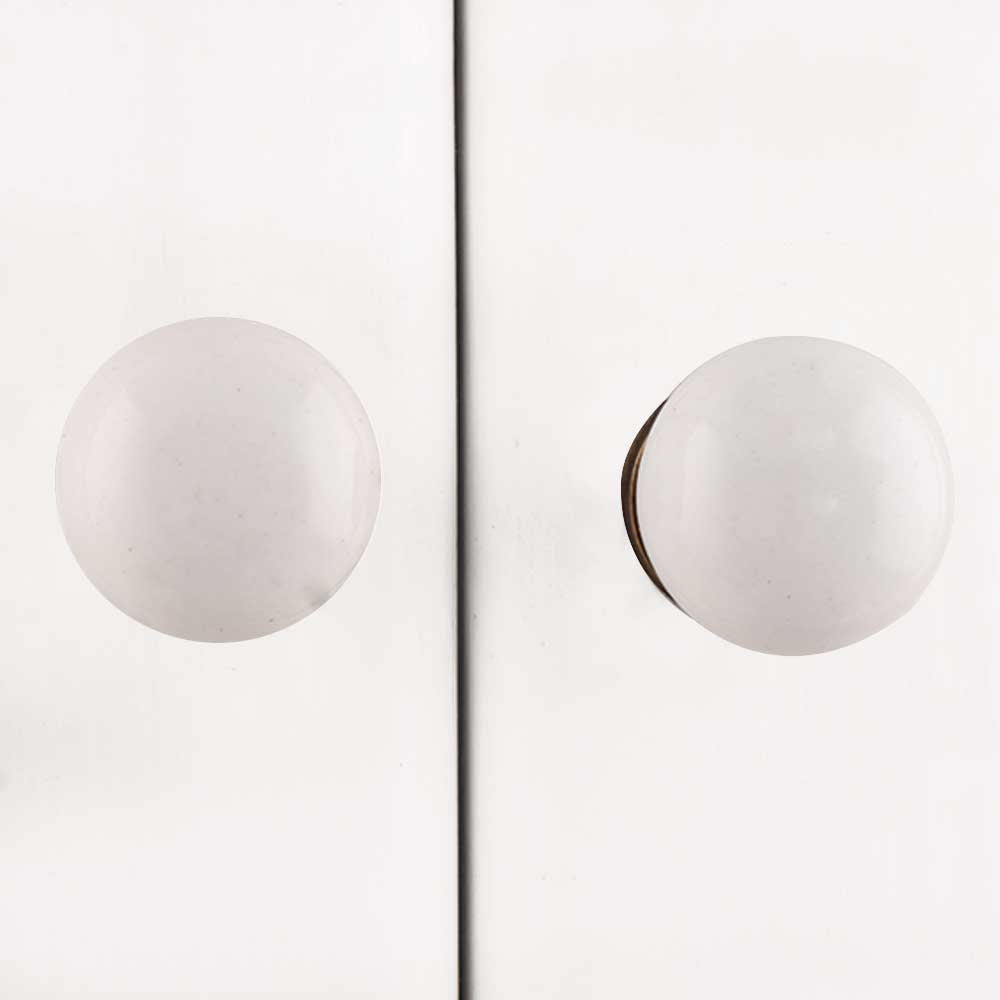 White Small Flat Knob (1)