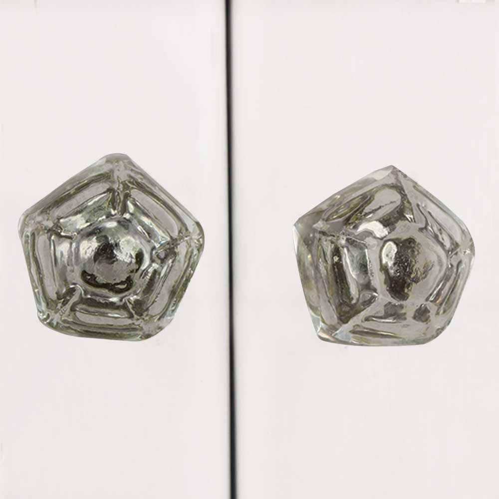 Pyramid Glass Drawer Knobs Online