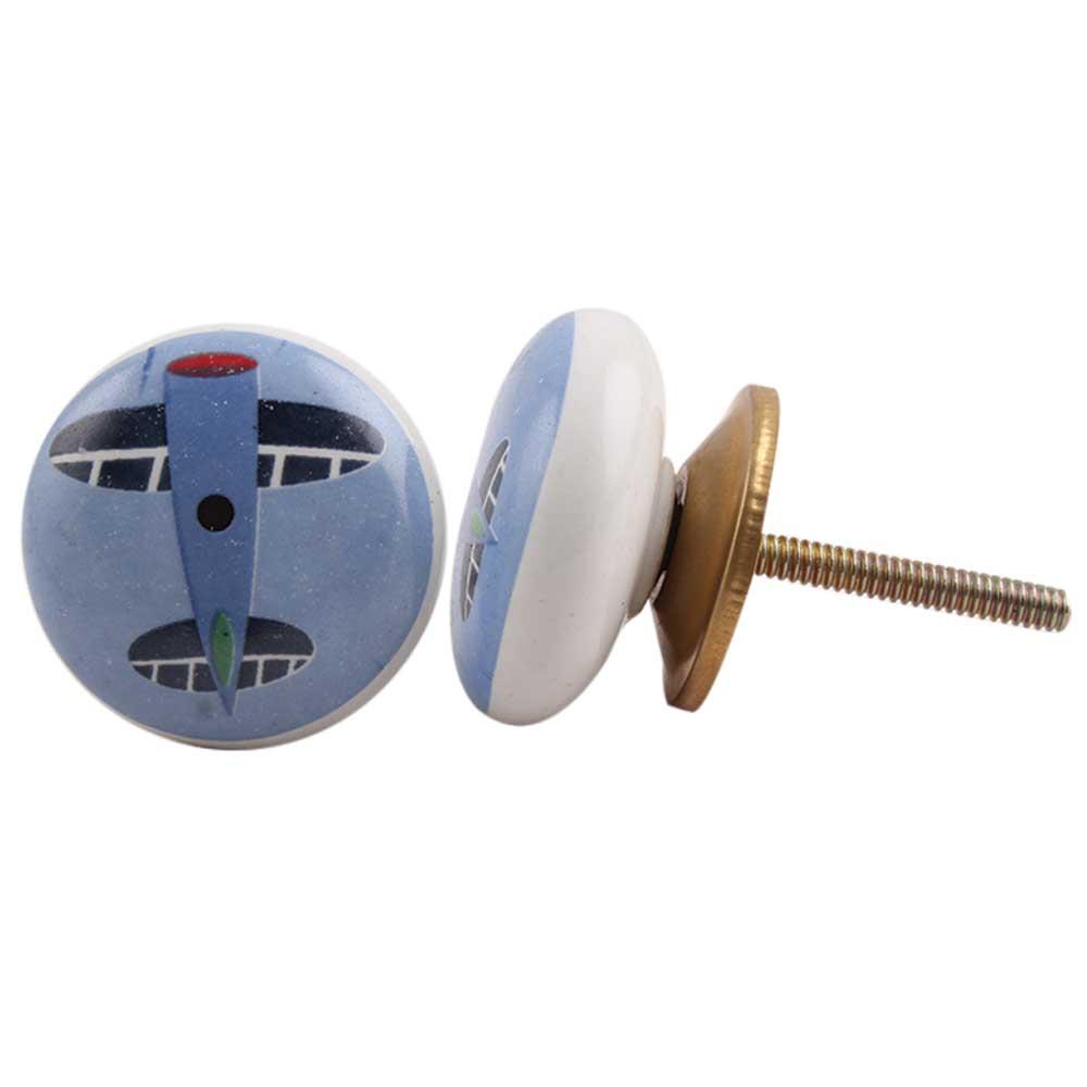 Aeroplane Ceramic Knob (1)