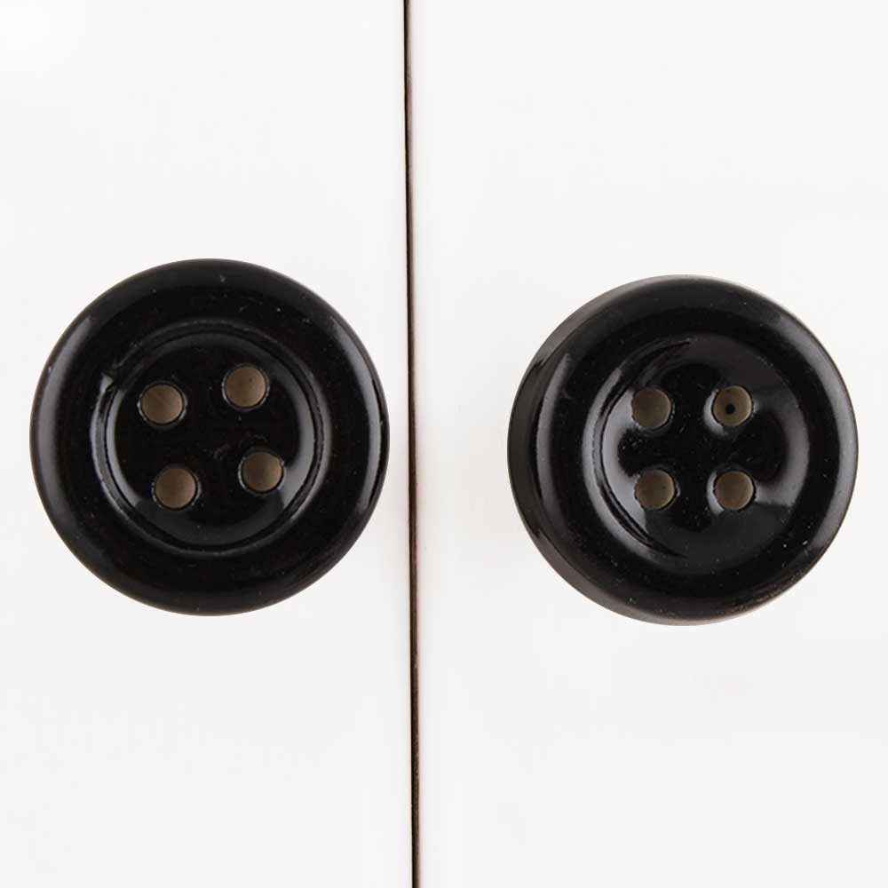 Black Ceramic Button Knob