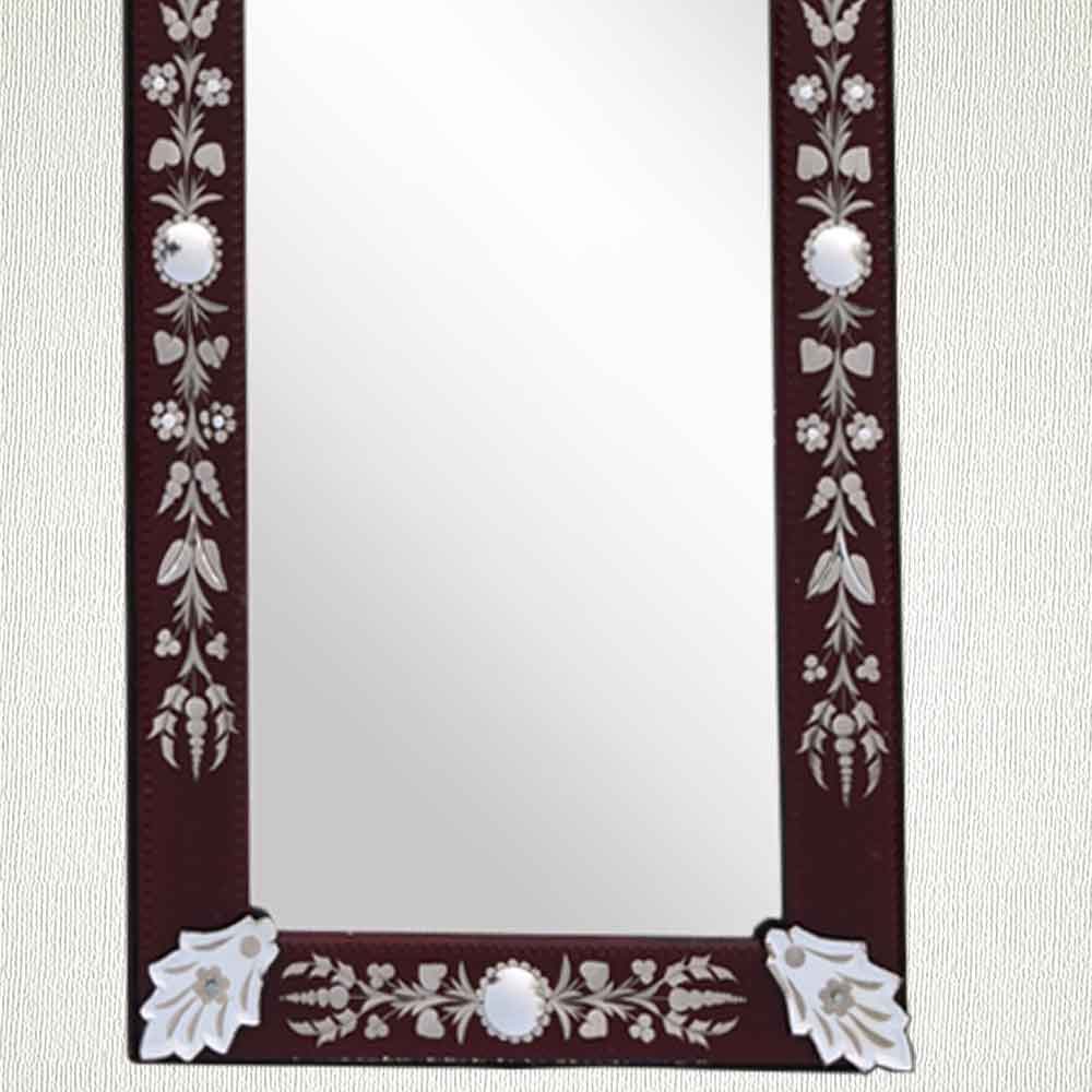 Brown Long Venetian Mirror-46.5 inches X 16 inches