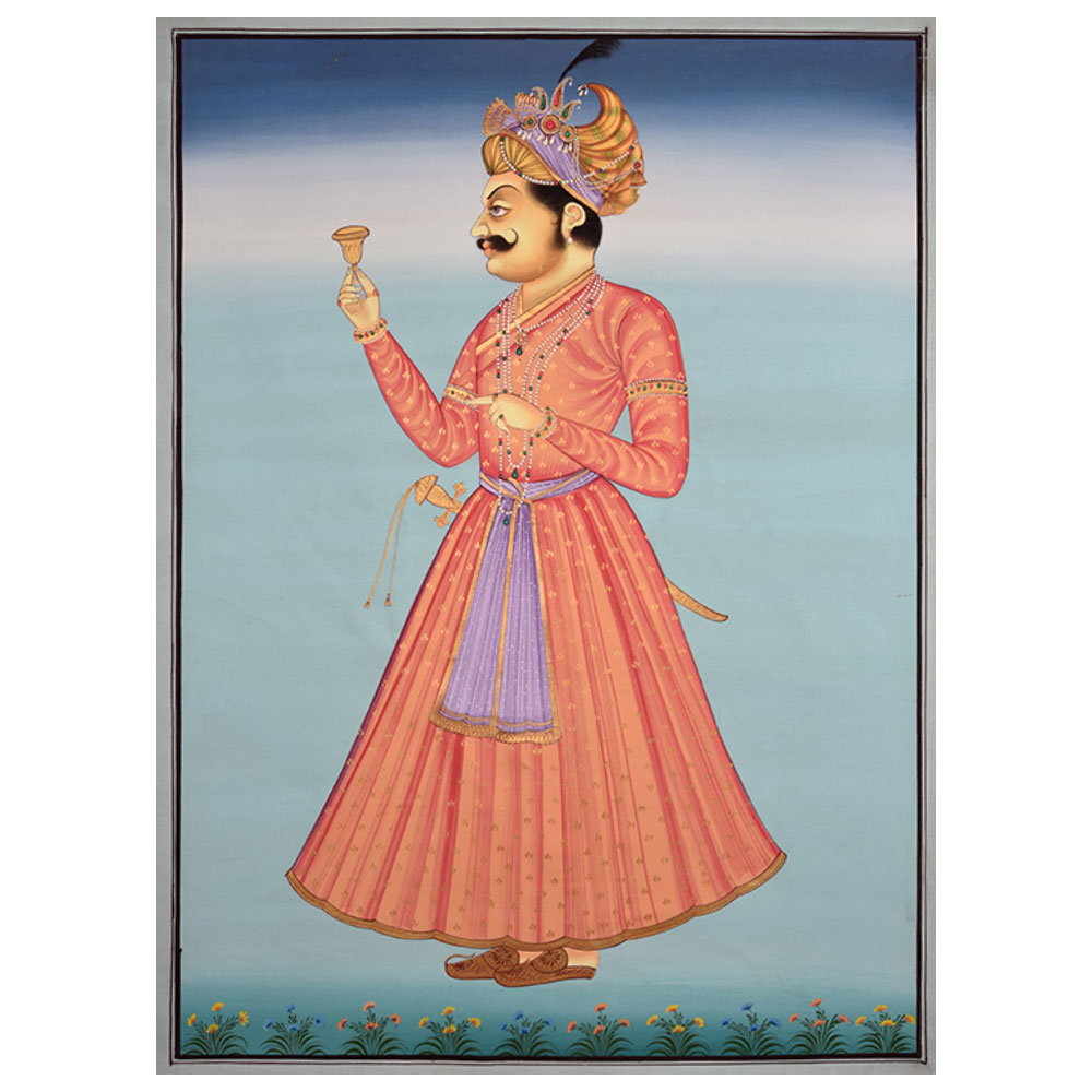 Indian Maharaja Portrait Painting