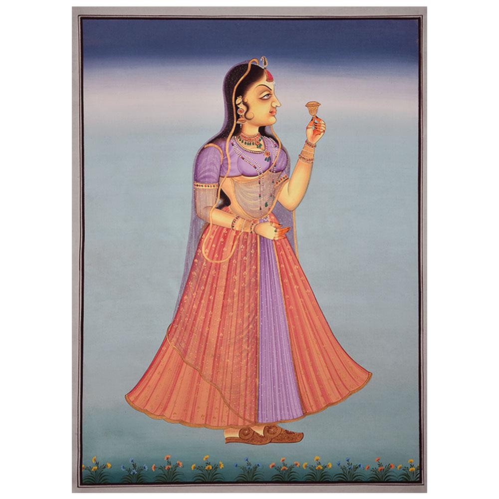 Painting Of Mughal Princess