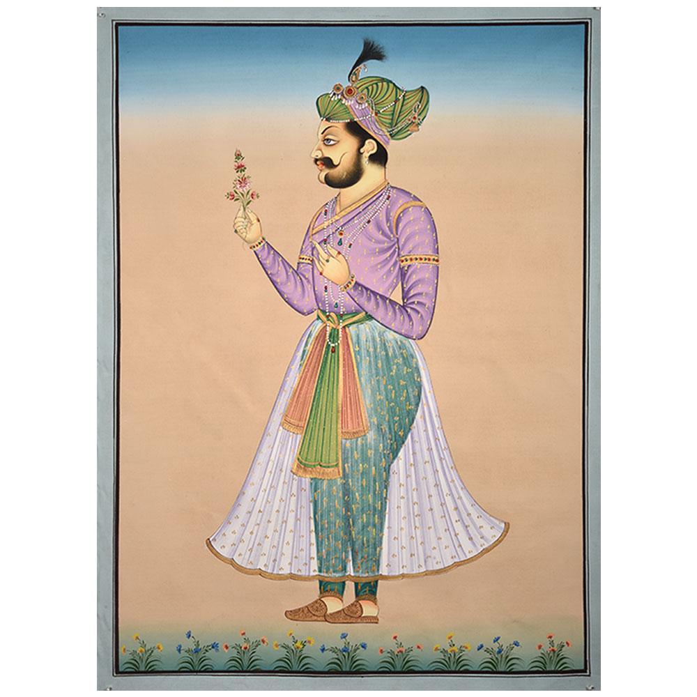 Painting Of Mughal Prince