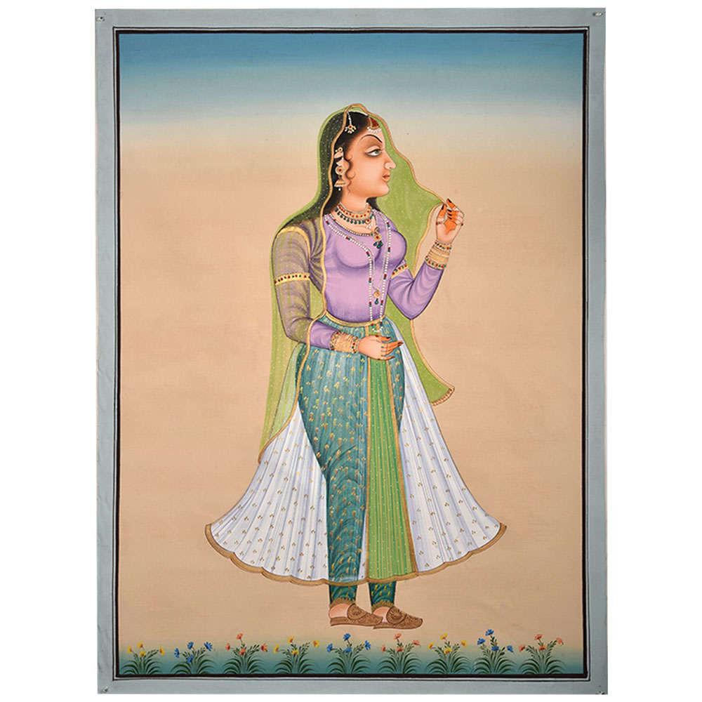 Painting Of Mughal Lady
