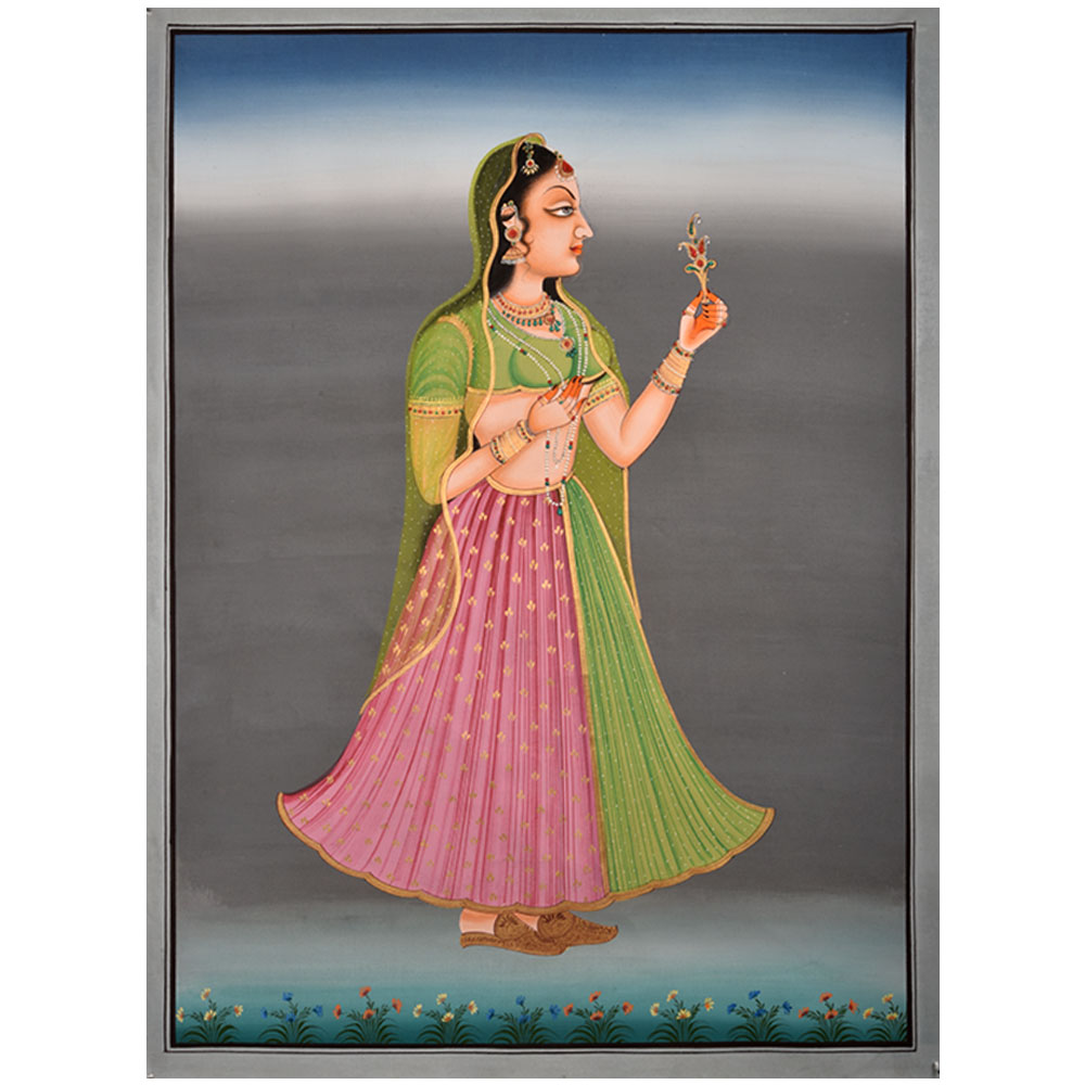 Maharani Painting Of Old Fort