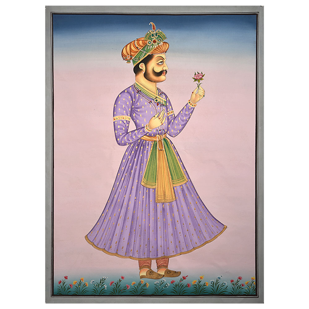 Handmade Painting Of Indian Maharaja