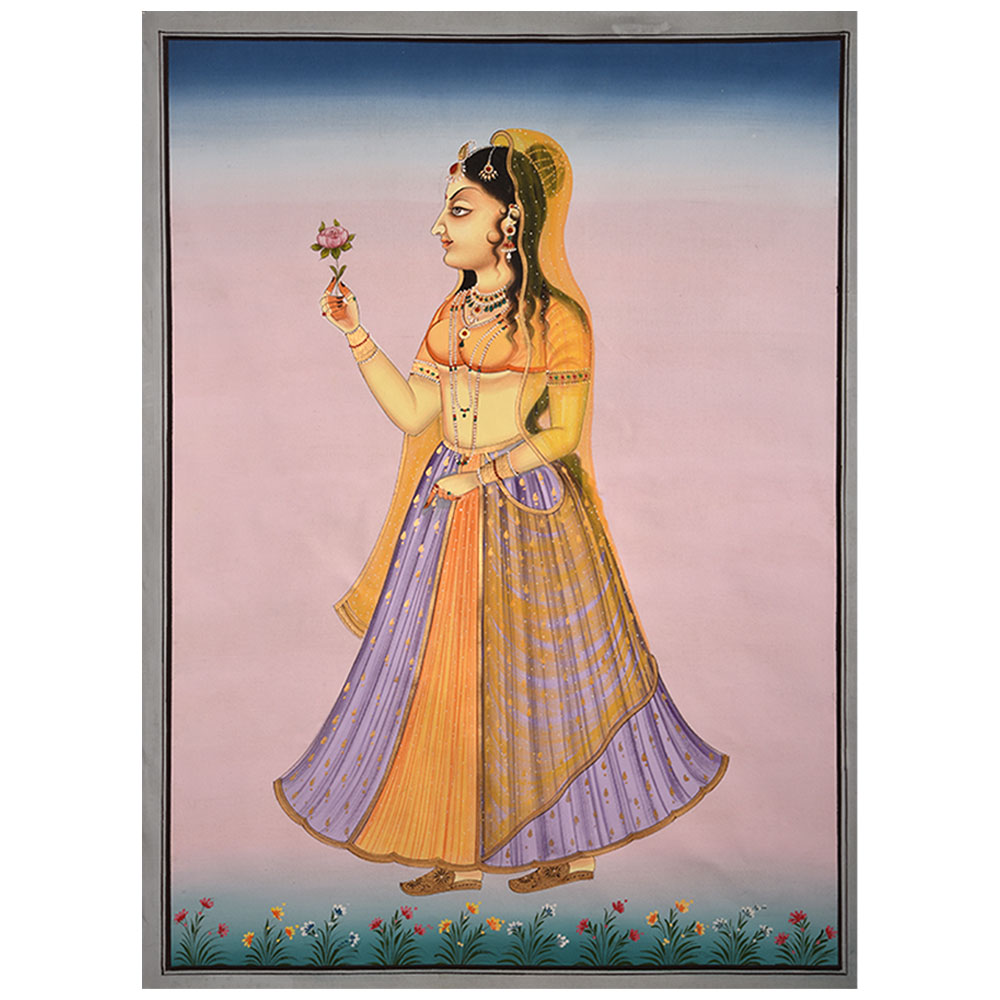 Mughal Court Lady Painting