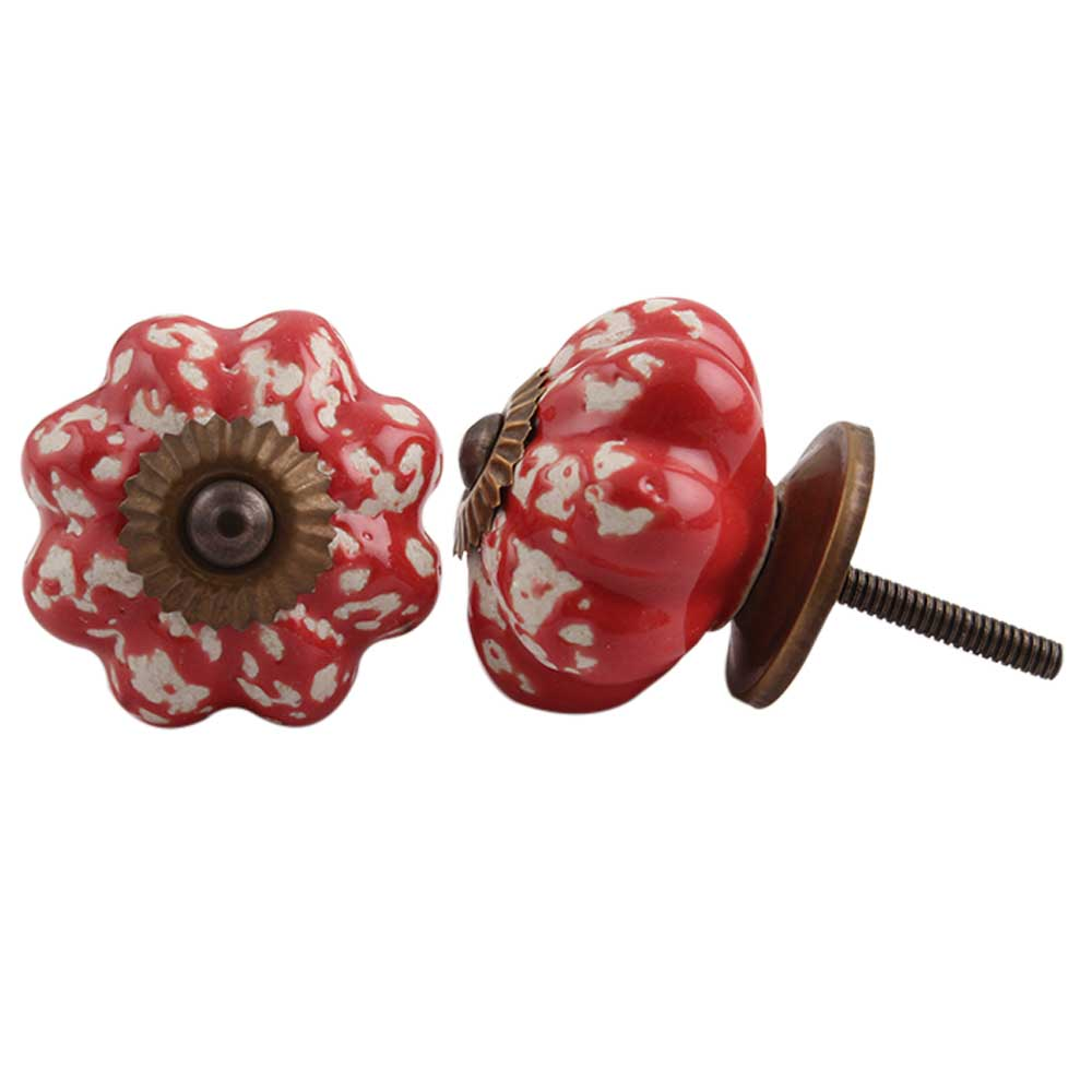 Red Etched Melon Knob