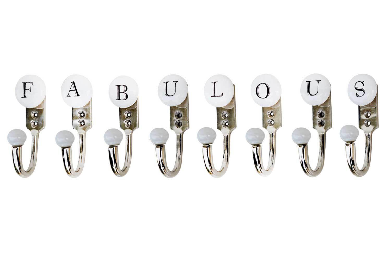 FABULOUS White & Black Alphabet Hooks (Combo Pack)