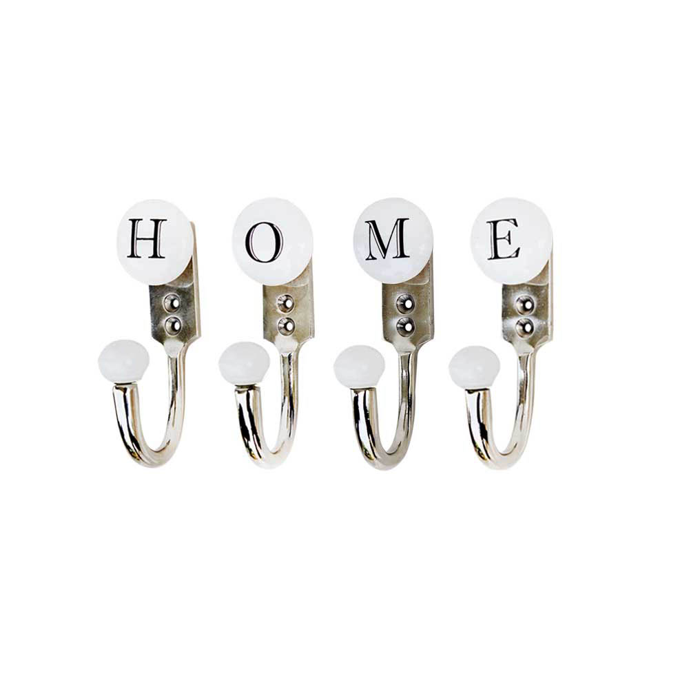 HOME White & Black Alphabet Hooks (Combo Pack)