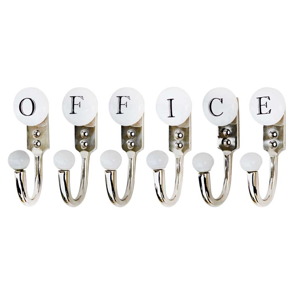 OFFICE White & Black Alphabet Hooks (Combo Pack)