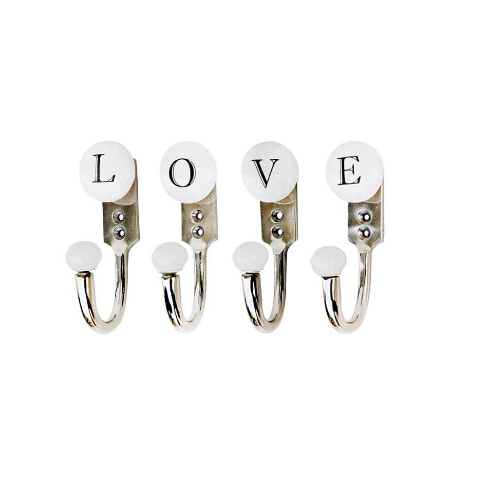 LOVE White & Black Alphabet Hooks (Combo Pack)