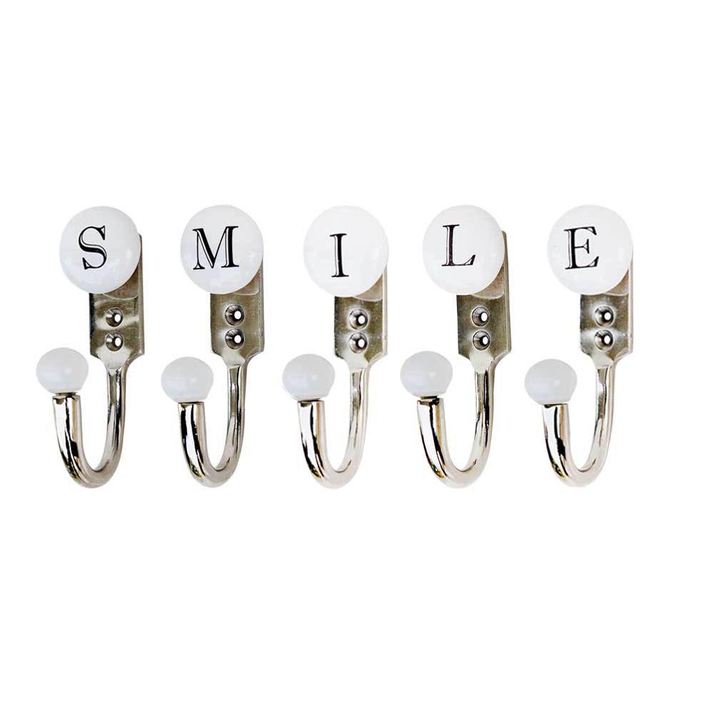 SMILE White & Black Alphabet Hooks (Combo Pack)