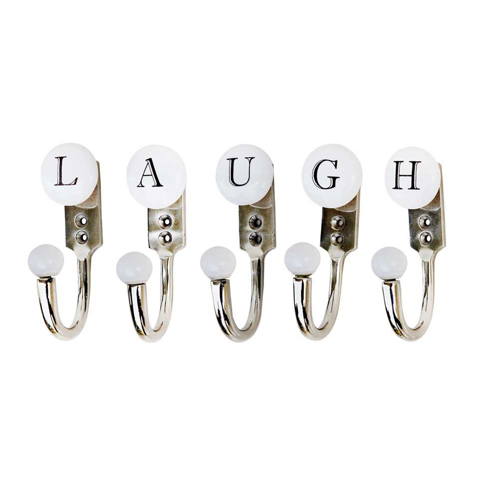 LAUGH White & Black Alphabet Hooks (Combo Pack)