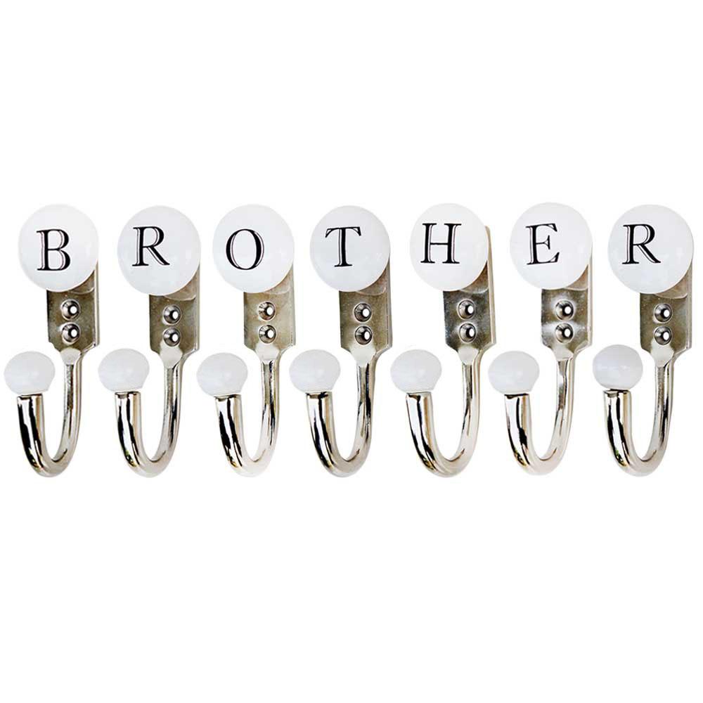 BROTHER White & Black Alphabet Hooks (Combo Pack)