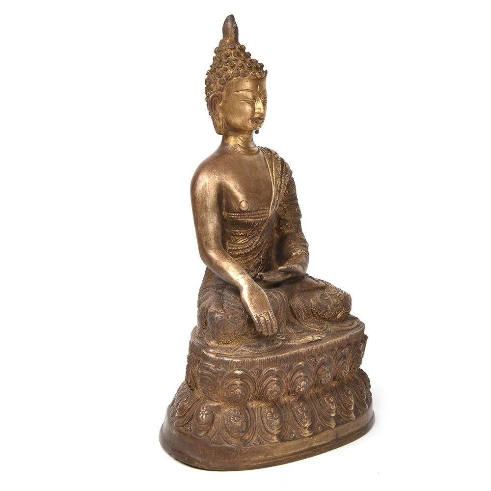 Buddha Shakayamuni Seated Lotus Statue