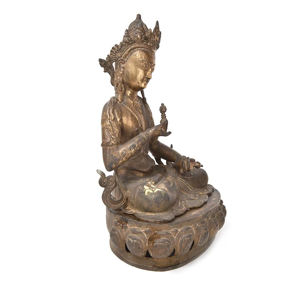 Rare Tibetan Bronze Buddha Figurine