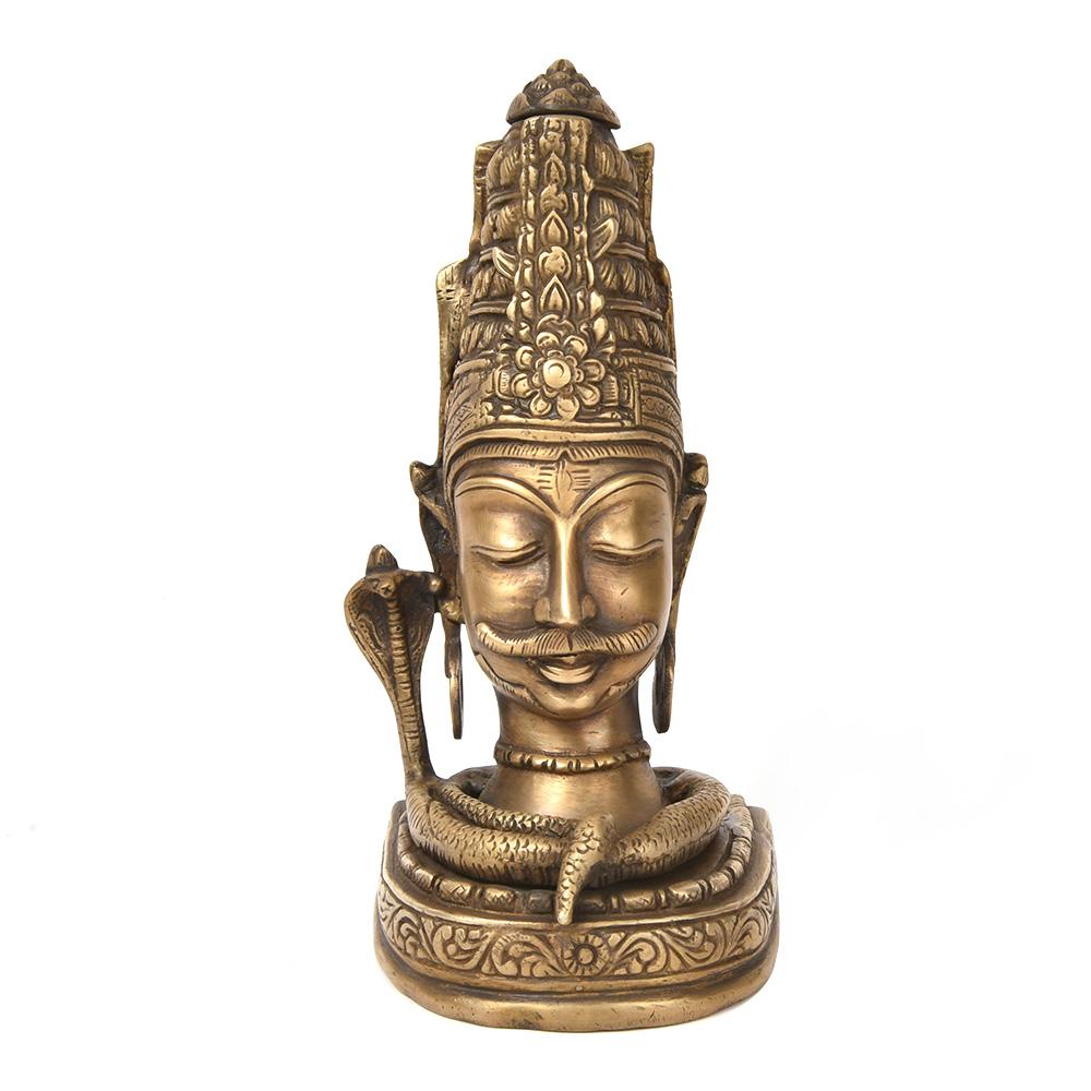 Bronze Lord Shiva Head Statue