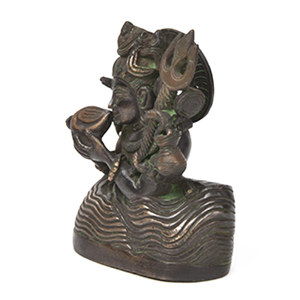 Rare Bronze Neelkanth Shiva Statue