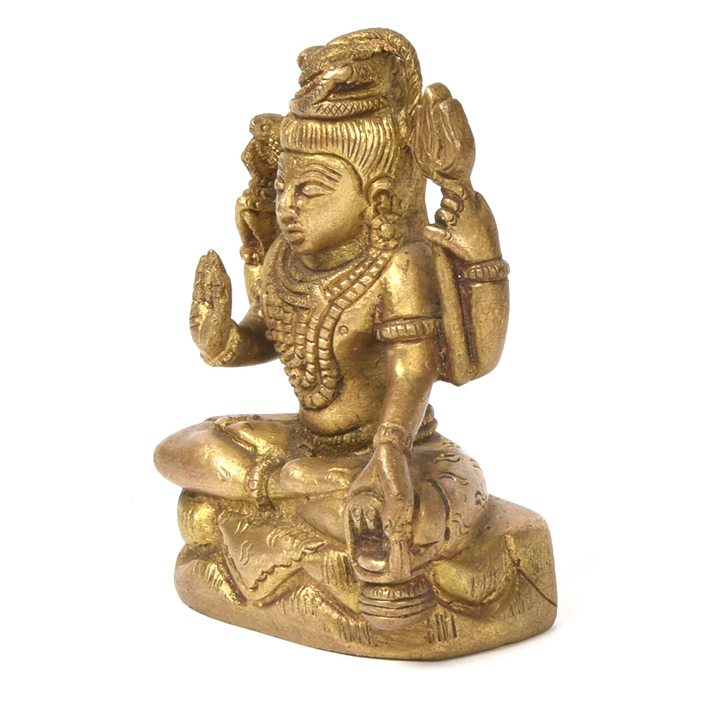 Lord Shiva Seated Bronze God Statue