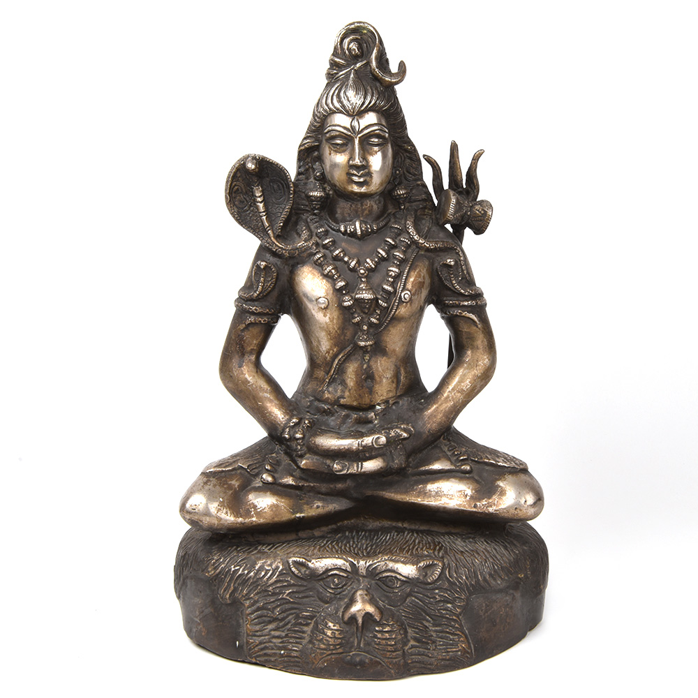Hindu God Lord Shiva in Bronze Finish