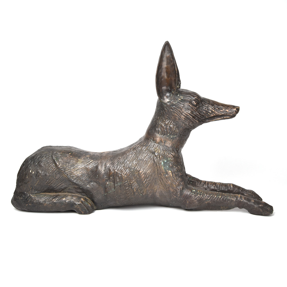 Bronze Statue of Seated Dog