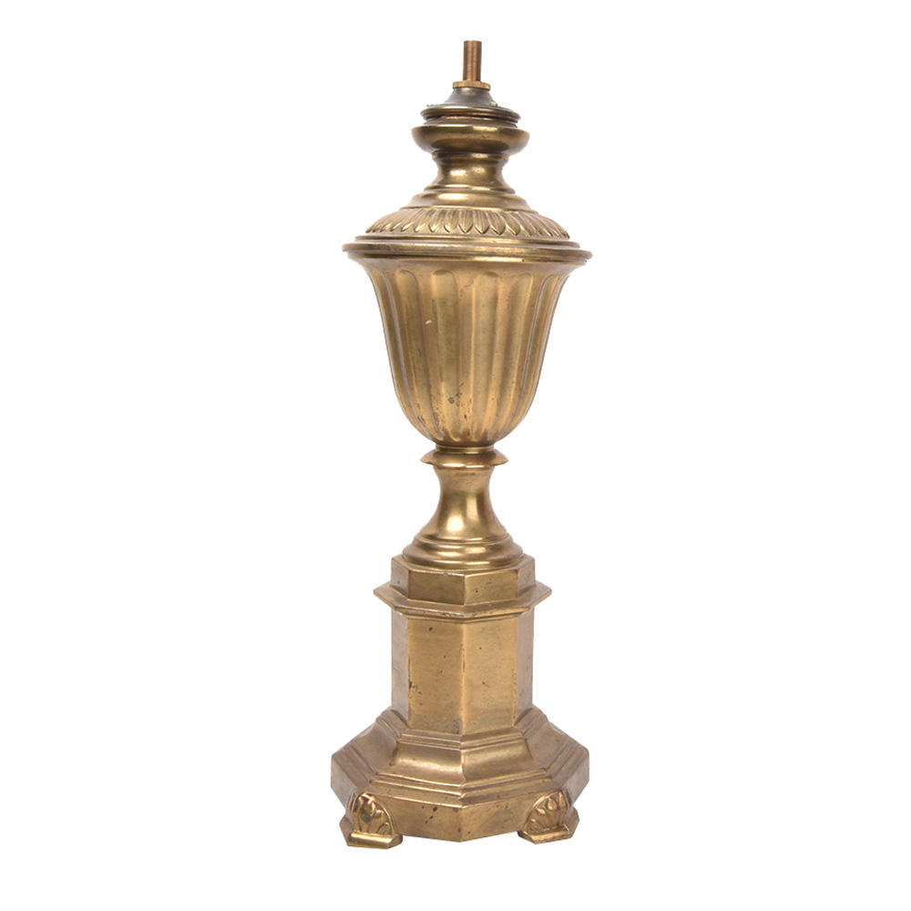 Decorative Urn Mixed Metal Table Lamp