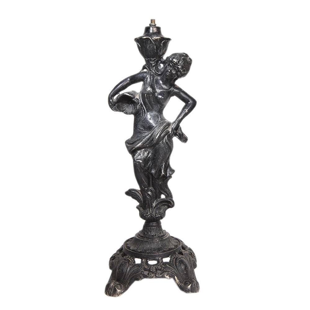 Beautiful Metal Lady StatueTable Lamp