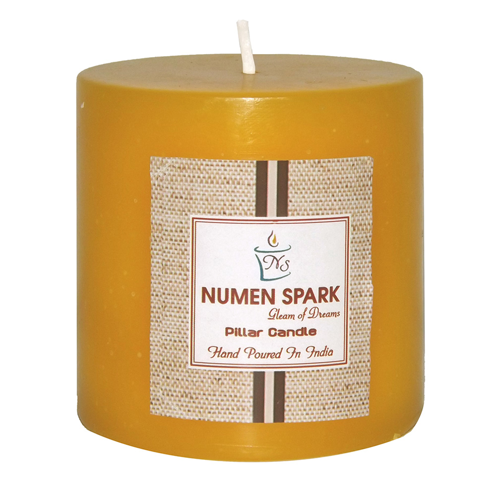 """Antique Sandalwood Scented Smooth Pillar Candle (3"""" X 3"""")"""