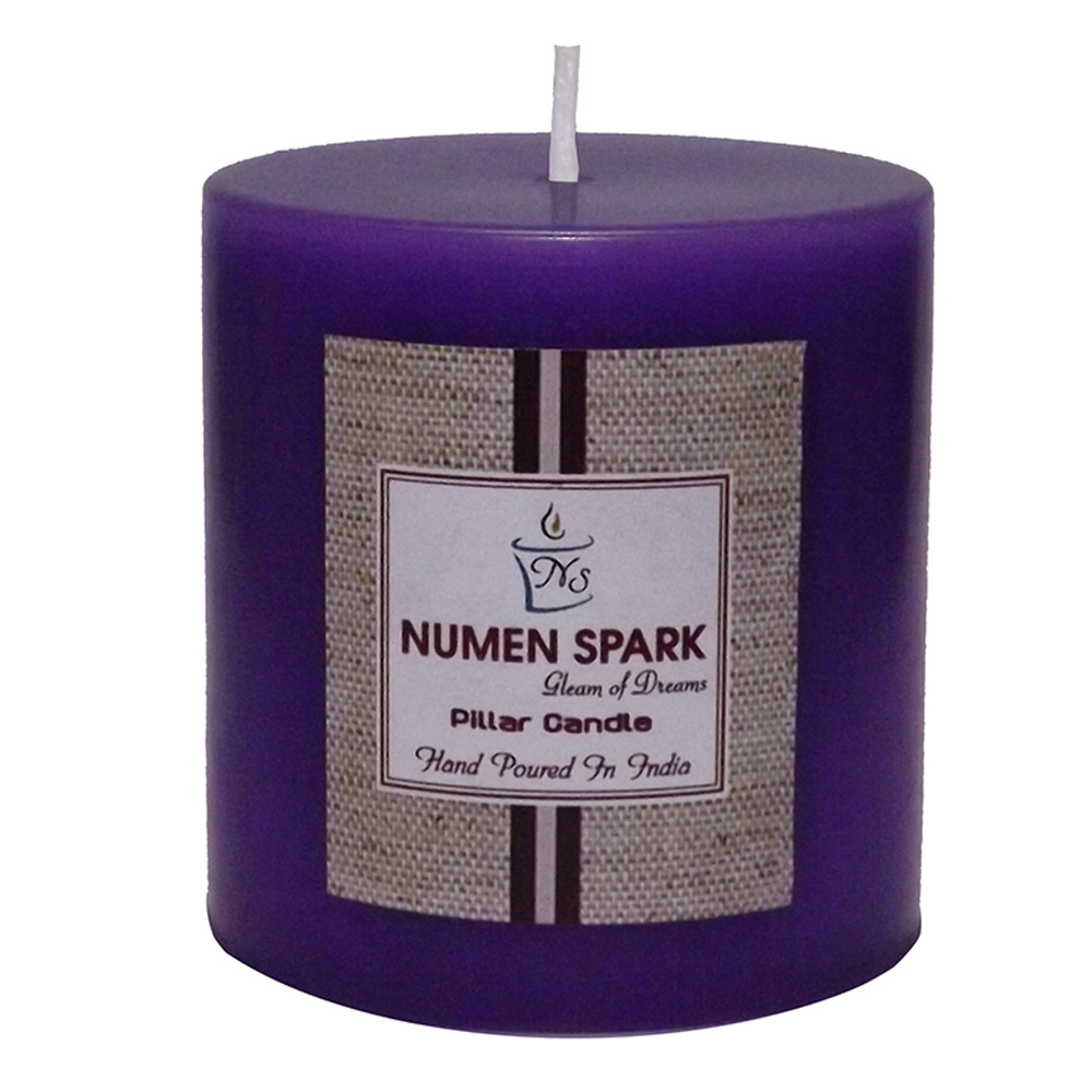 """True Lavender Scented Smooth Pillar Candle (3"""" X 3"""")"""