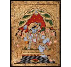 Darbar Krishna Tanjore Painting