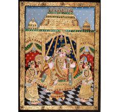 Lord Krishna Sitting Painting