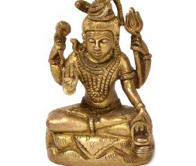 Lord Shiva Seated Bronze God Statue