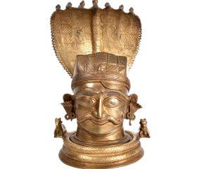 Bronze Nagabharanam Shiva Lingam Snake