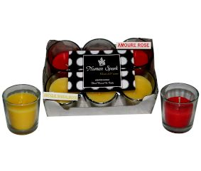 Amour Rose-Antique Sandalwood Dual-Scent Votive Candle (Pack of 6)