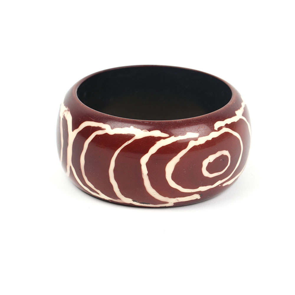Resin white round bangle