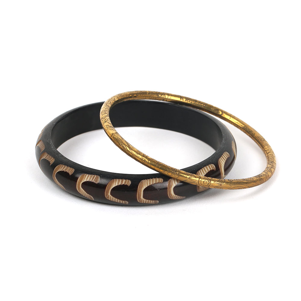 Horn Brass Bangle-04