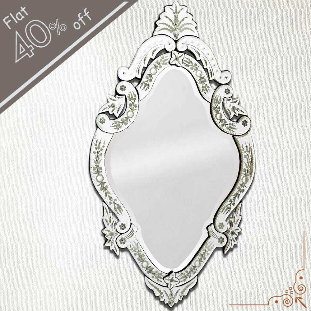 Oval Venetian Mirror-46 inches X 27 inches