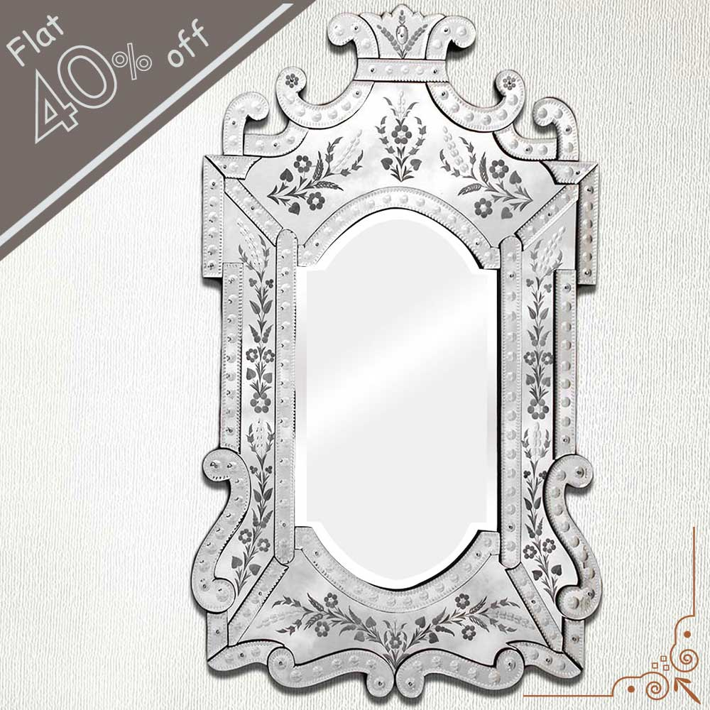 Vintage Venetian Mirror-48 inches X 29 inches